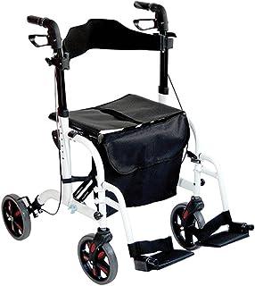Aidapt Duo Deluxe Rollator en Transit Chair in One - Wit (In aanmerking voor BTW-verlichting in het Verenigd Koninkrijk)