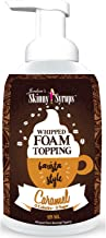 Jordan's Skinny Syrups | Sugar Free Caramel Whipped Foam Coffee Topping | Healthy Flavors with 0 Calories, 0 Sugar, 0 Carbs | 16oz Bottle