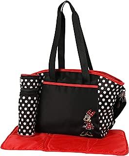 Disney Girls Minnie Mouse Multi Pc Large Diaper Bag Set, Black
