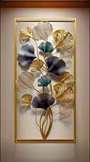 MICROTEX Iris Flower panel frame iron metal wall hanging 3D décor for room hall living area multicolour (40x3x18 inch)
