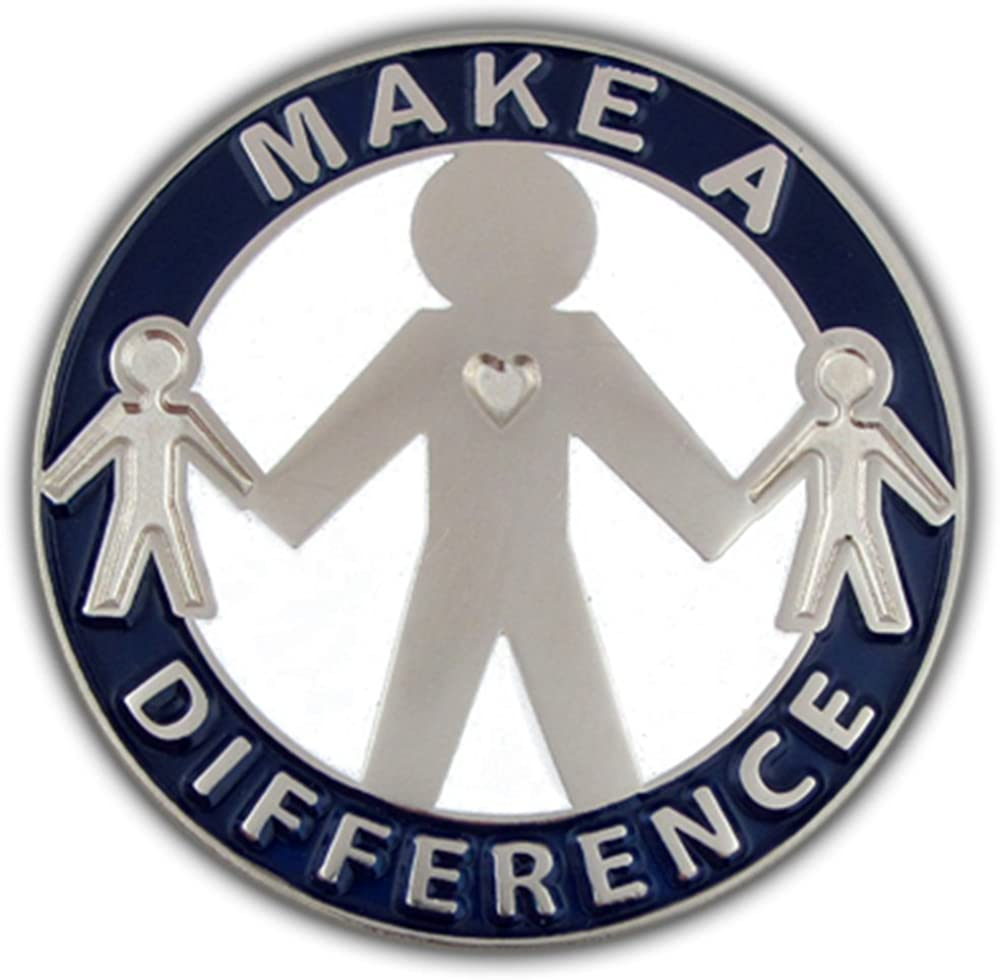 PinMart Make a Difference Enamel Fixed price for sale Lapel Motivational Pin Memphis Mall