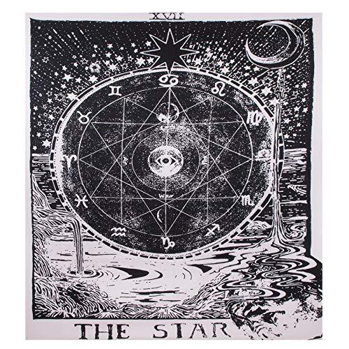 Tapiz de Pared Tarot Estrella Tapices para Colgar en la Pared con Herramienta de Instalación Astrología Tapices para Decoración Del Hogar 130 x 150 Cm