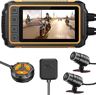 YDI Dash CAM Impermeable Cámara de Motocicleta, 3.0'' FHD 1080P Doble Lente Impermeable Frontal y Trasera Gran Angular 15...
