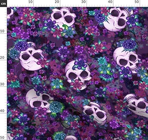 Totenkopf, Totenköpfe, Rockabilly, Zart Stoffe - Individuell Bedruckt von Spoonflower - Design von Elladorine Gedruckt auf Baumwollstoff Klassik