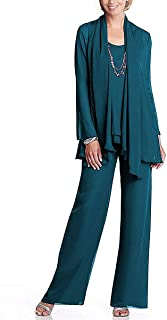 Grandmother of Bride Beaded Outfit Pants Suit with Jacket