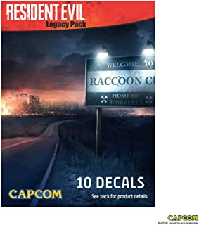 Decalcomania Resident Evil Legacy Decal Pack - Set of 10 Large and Small Stickers - All Weather Proof