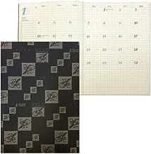 HANABUSA(はなぶさ) 2021年版手帳 ダイアリー ブラック A5 見開き1ヶ月(前年度12月~次年度3月まで収録)