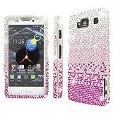 Empire Mpero Collection Diamante Bling Case for Motorola Droid Razr Maxx HD XT926M - Silver/Pink