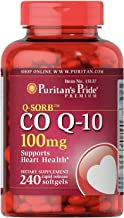 CoQ10 100mg, Supports Heart Health,240 Rapid Release Softgels by Puritan's Pride