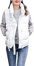 MODOQO Women's Down Coat Vest Sleeveless Cotton Jackets Outerwear Overcoat
