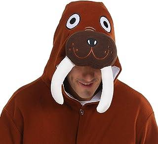 dressfan Strampler Tier Tieroverall Walross Nachtwäsche Erwachsene Pyjamas Unisex Polar Fleece Cosplay Kostüme Leistungskostüm