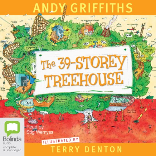 The 39-Storey Treehouse                   By:                                                                                                                                 Andy Griffiths                               Narrated by:                                                                                                                                 Stig Wemyss                      Length: 2 hrs and 5 mins     36 ratings     Overall 4.8