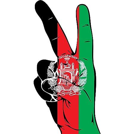 Ub Aufkleber Afghanistan Peace Finger 13 Cm X 6 Cm Flagge Fahne Autoaufkleber Auto