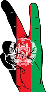 UB Aufkleber Afghanistan Peace Finger 13 cm x 6 cm Flagge/Fahne (Autoaufkleber)