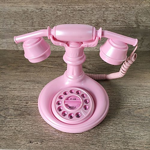 ECVISION Lovely Pink Princess Corded Phone Cute Push-button Corded Telephone