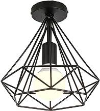 perfk 2pcs Lampe Suspension Abat-jour Plafonnier Cage Applique Murale Moderne Cristal Douille Lustre Vintage Retro Industrielle