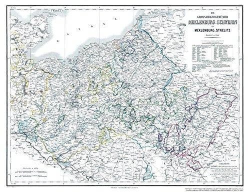 Hist. Karte: Großherzogtümer...