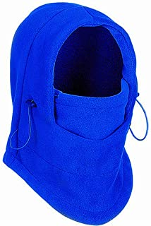 TRIXES Unisex Half Face Fleece Balaclava Hood – Blue - One Size