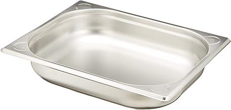 Hendi 806326 Bac Gastronome GN 1/2, Acier Inoxydable, Silver, 32,5 x 26,5 x 6,5 cm