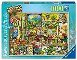 Ravensburger Puzzle 19482 - Grandioses Gartenregal - 1000 Teile Puzzle für Erwachsene und Kinder ab 14 Jahren, Motiv von Colin Thompson -