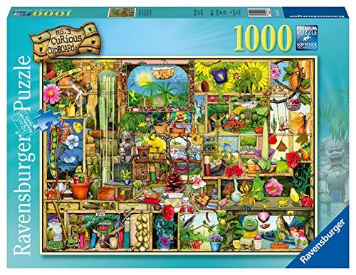 Ravensburger- Grandioses Gartenregal 1000 Teile Erwachsenenpuzzle-Von Colin Thompson Rompecabezas para Adultos, Color Verde (19482)