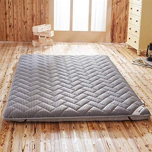 ZZFF Japanese Folding Futon Pad,Reversible Quilted Breathable Soft Furniture Thicken Floor Mat,Tatami Mattress Topper Gray 120x200x6cm(47x79x2inch)