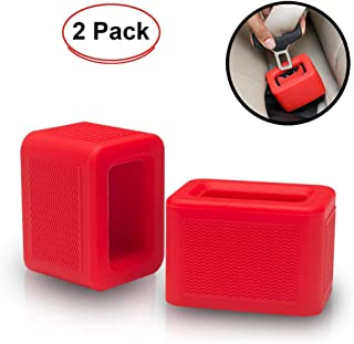 2 Pack Seat Belt Buckle Booster Holder - Holds Seatbelt Buckle Upright - Stop Fishing for Buried Seat Belts - Makes Receptacle Stand Upright for Hassle Free Buckling - Fits Most Vehicles