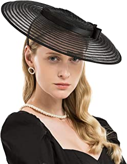 Fascinators for Women Elegant Wide Brim Kentucky Derby Church Wedding Hat