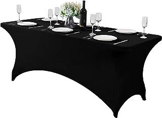 رومیزی میز اسپندکس برای سفره ، ضیافت ، عروسی و رویدادها میز رومیزی 6Ft یا 4fT یا 8ft