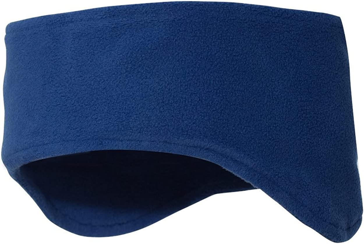 Snapskull Unisex Polar Fleece Headband with Ear Warmers (Royal Blue)