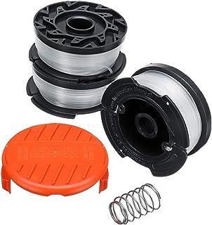 KUNSE 5 stks 30ft 0.065 Inch Trimmer Hoofd Lijn en Spoel Cap Cover voor Black Decker GH400 GH500 GH600