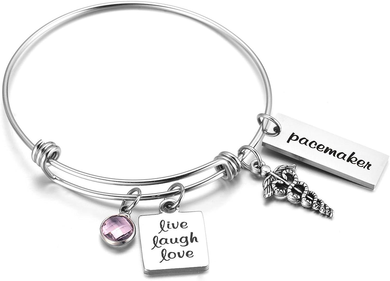 FLODANCER Womens Cross Bangle Bracelet Expandable Gift for Mom Sister Friends Graduation Birthday Anniversary Present …