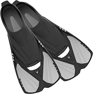 Sponsored Ad - Deep Blue Gear Aqualine Short Fins for Snorkeling, Swimming, and Diving