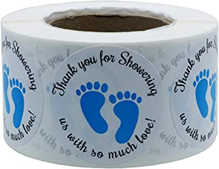 Hybsk 1.5 Inch Round Baby Shower Stickers, Thank You for Showering Us with So Much Love..