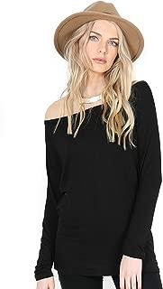 Womens Baggy Oversized T Shirt Ladies Off Shoulder Bardot Top T Shirt