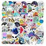 Cute Ocean Vinyl Stickers (100PC) Waterproof Pack for for Laptop Skin, HydroFlask Decal, Water Bottles, Phone, Ipad, Luggage. Asthetic Decals for Teens, College Students. Extra Durable 100% Vinyl