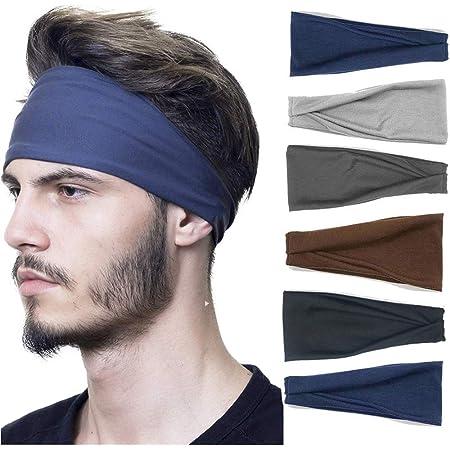 Mens Sports Running Headband Sweatband Yoga Hairband Sweat Wicking Hair Band