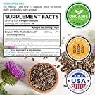 Organic Milk Thistle Extract (80% Silymarin) Super-Concentrated for 9,000mg of Milk Thistle Seed Power: Supports Liver Cleanse, Detox & Health - Vegan - 60 Capsules (Pills) #2