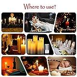 LED Kerzen,Flammenlose Kerzen 250 Stunden Dekorations-Kerzen-Säulen im 5er Set.Realistisch flackernde LED-Flammen 10-Tasten Fernbedienung mit 24 Stunden Timer-Funktion (5 * 1, Ivory) - 3