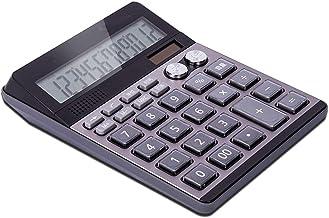 $56 » Sdesign Large Calculators Office Desktop Calculator, Battery Dual Power Electronic Calculator Portable 12 Digit Large LCD ...