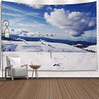 Asdecmoly Wall Tapestry, Printing Tapestries for Living Room Christmas and Fall Bedroom 80 Lx60 W Inches Looking Down Valley Place Called Which Means Look Art Printing Inhouse for Thanksgiving Day
