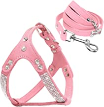 pink rhinestone dog harness