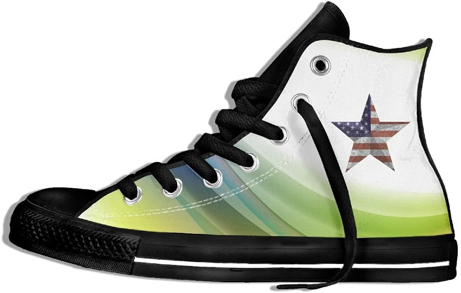 USA Flag Star Shape High Top Classic Canvas Fashion shoes Trainers Sneakers