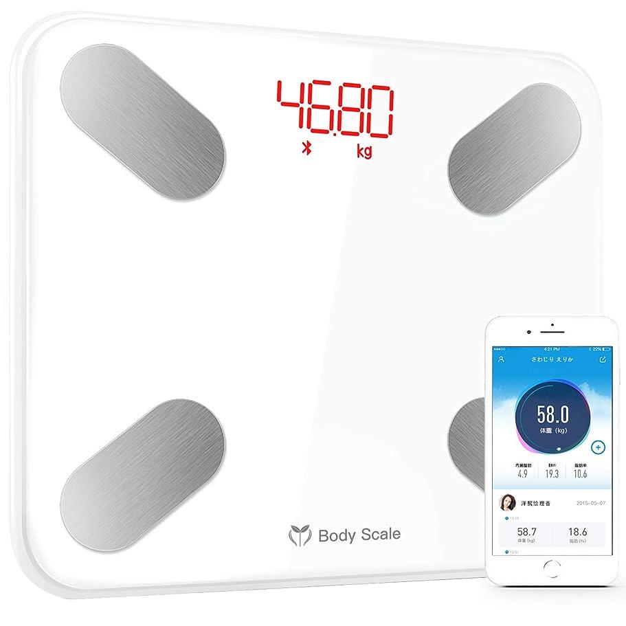 順応性悲惨な後世体重計 体組成計 体重?体組成計 体脂肪計 BMI/体脂肪率/筋肉量など/体水分率/推定骨量/基礎代謝量など測定可能 Bluetooth対応 iOS/Androidアプリで健康管理 日本語説明書付き Molitar (ホワイト)