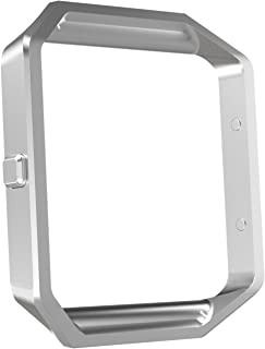 MoKo Fitbit Blaze Band Frame,  Stainless Steel Replacement Metal Frame Housing for Fitbit Blaze Smart Watch - Silver
