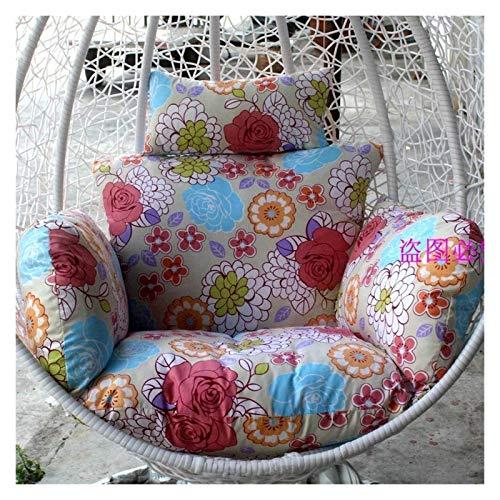 BDBT Swing Chair Cushion Swing Basket Cushion/Single Rattan Chair Cushion, Thick Hanging Egg Hammock Cushion, Cotton Cushion,Removable and Washable (Color : B)
