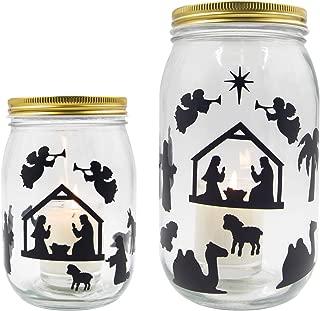 Best nativity mason jar decals Reviews