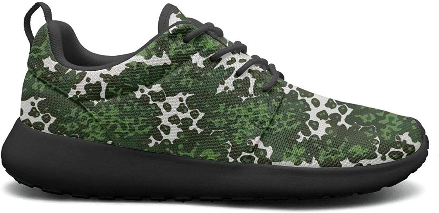 Wuixkas Camouflage Green Army Womens Lightweight Mesh Sneakers Cool Tennis shoes
