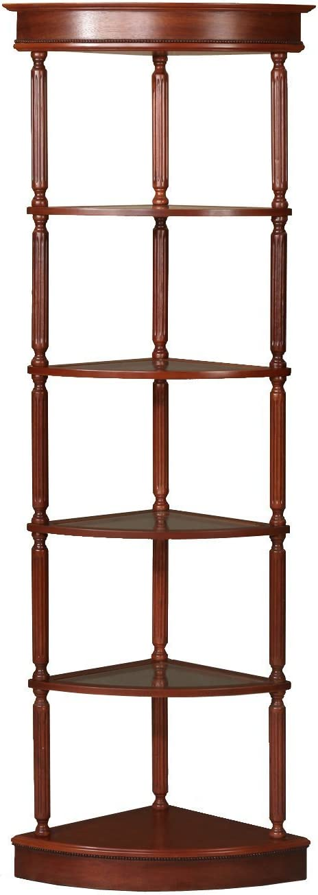 Home Source Industries Corner Triangle Shelving Unit Wood Gl Max 85% OFF Long Beach Mall
