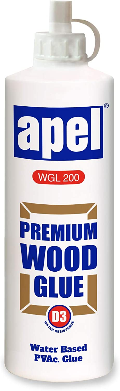 Wood Glue for Woodworking and Hobbies, Extra Strength for Crafts, 16 oz./1 Pound, Water Based Clear PVA Glue for Interior & Exterior, Low Viscosity (1 Pack)
